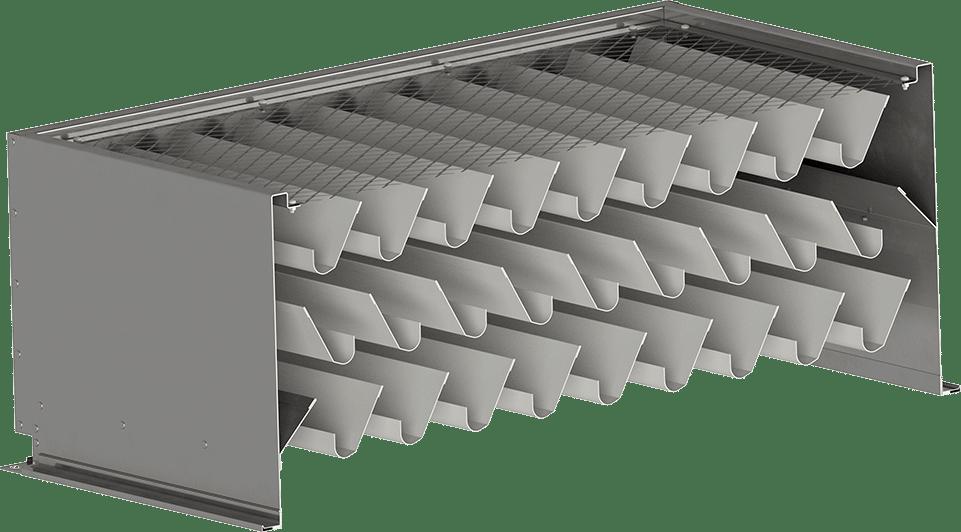 horizontales Wetterschutzgitter | BLH Lüftungstechnik