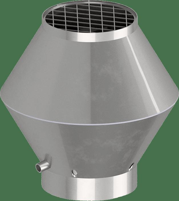 Deflektorhaube rund geschweißt | BLH Lüftungtechnik