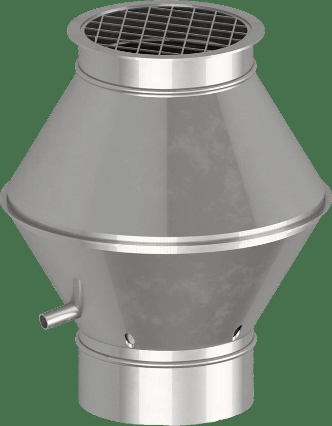 Deflektorhaube rund gefalzt | BLH Lüftungstechnik