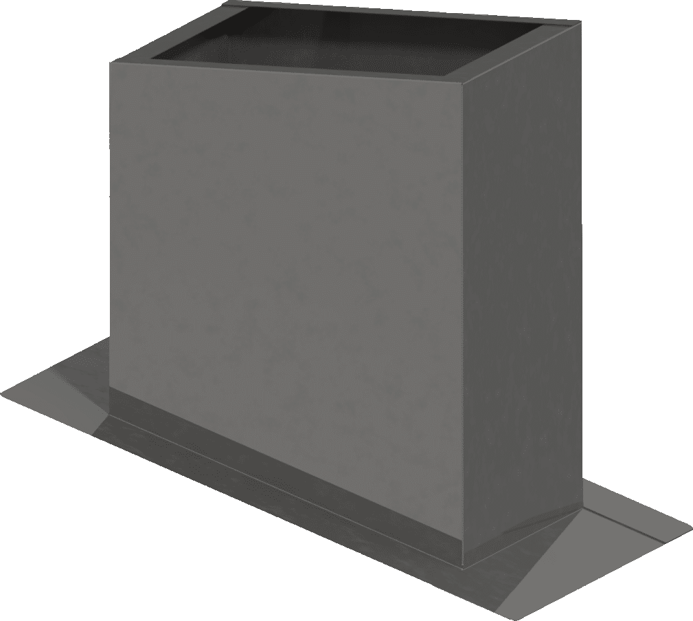 Flachdachsockel-schräg | BLH Lüftungstechnik hennen