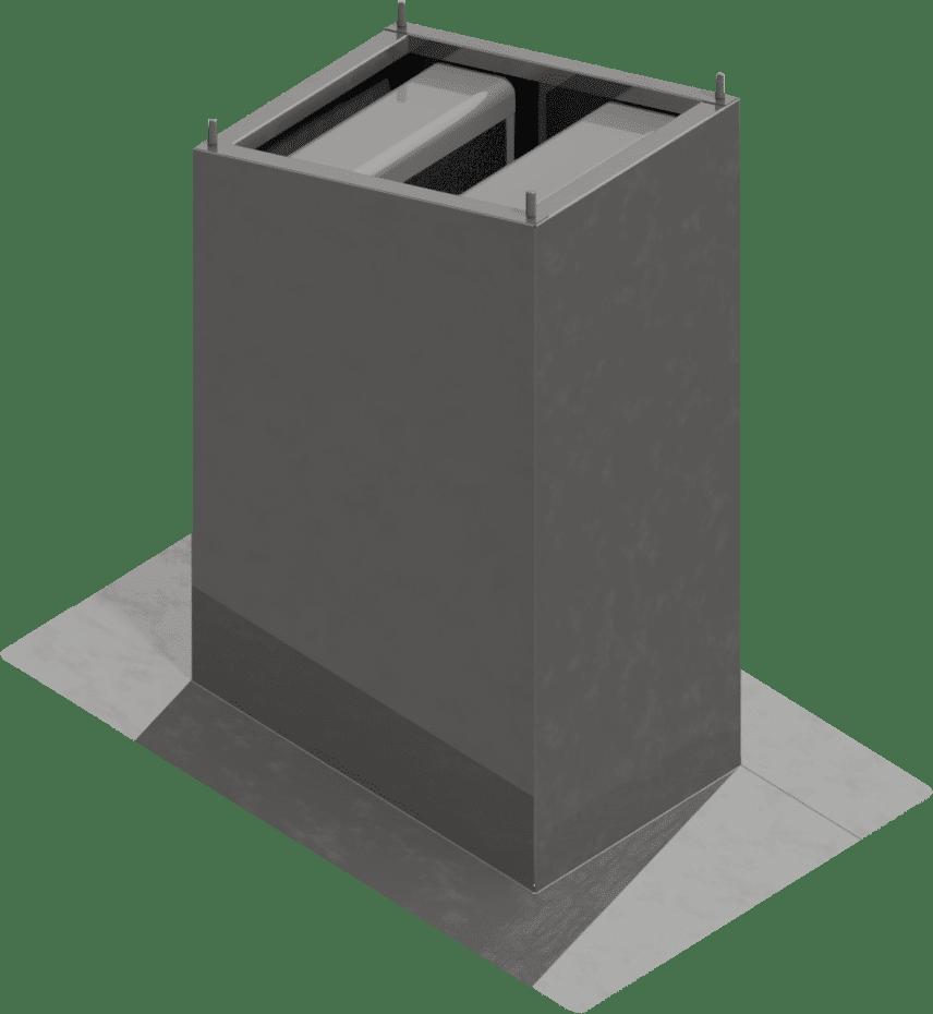 Sockelschalldaempfer-schräg | BLH Lüftungstechnik hennen
